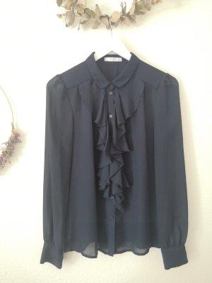 Bluse mango blau business elegant