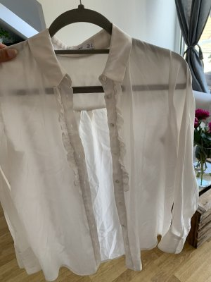 Mango Bluzka z falbankami biały