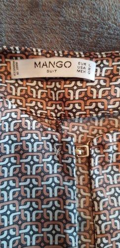 Mango Basics Lange blouse zandig bruin-wolwit