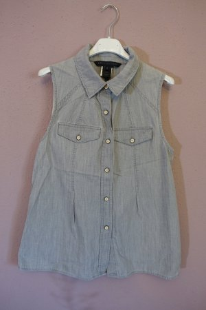 Bluse, Marc by Marc Jacobs, Chambray, Denim, Jeansbluse, ärmellos, Jeans, wie neu, Top