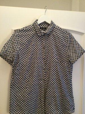 Marc O'Polo Short Sleeved Blouse dark blue-white