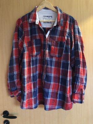Bluse Marks&Spencer 46 blau rot weiß kariert
