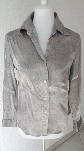 and Blusa-camisa negro-color plata