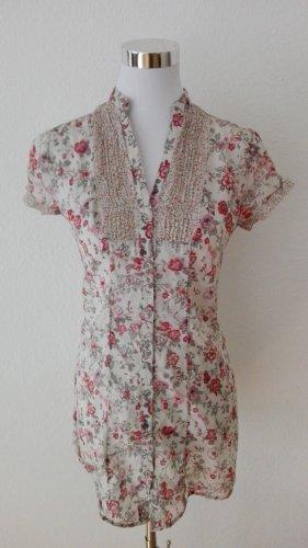 Bluse/Minikleid Blumenprint