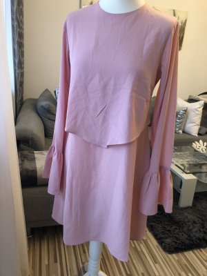 bluse / minikleid in rosa / rosé