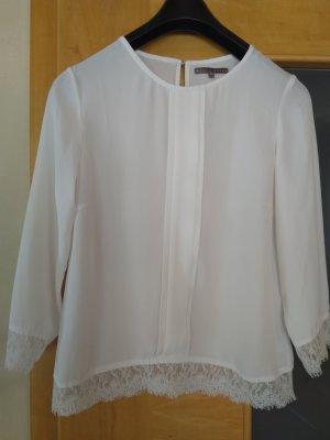 Mint&berry Transparentna bluzka biały