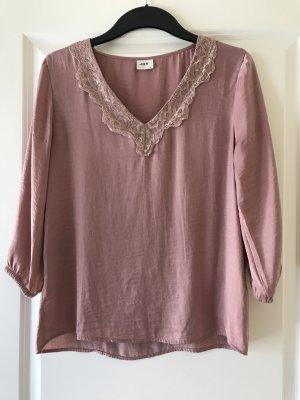 H&M Połyskująca bluzka w kolorze różowego złota