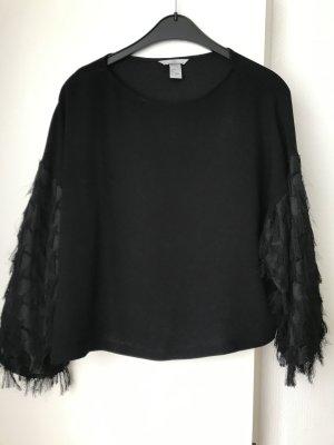 H&M Kimono Blouse black polyester