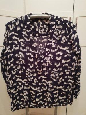 H&M Empiècement de blouses bleu foncé viscose