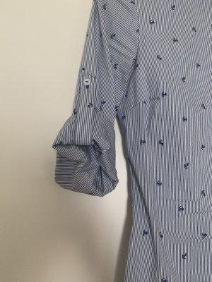 Zara Tie-neck Blouse azure-dark blue