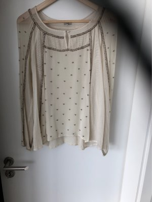 Bluse mit aufwendiger Perlenstickerei