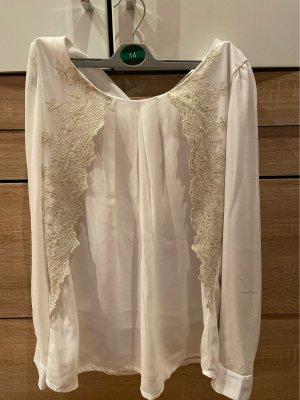 Empiècement de blouses blanc-gris clair