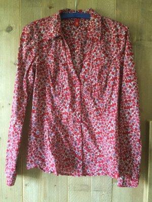 Bluse mit Blütenmuster, rot, von EDC by Esprit, Gr. S