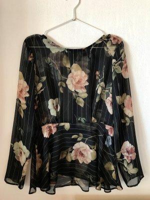 Bluse mit Blumen Muster
