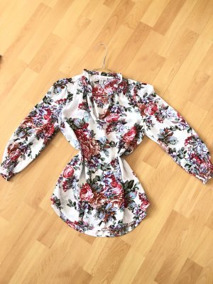 Bluse mit Blumen-Muster S Neu