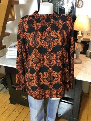 Aniston Blouse met lange mouwen zwart-donker oranje Polyester