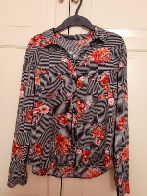 Bluse mit Blumen&Streifen