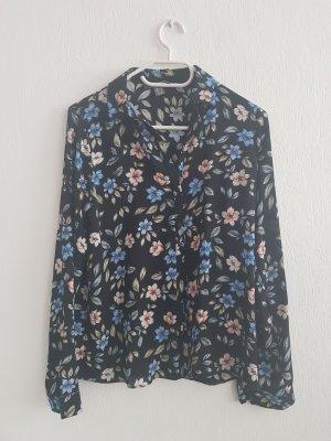 Primark Long Sleeve Blouse black polyester
