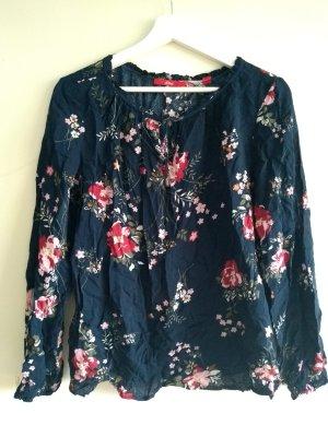 Bluse mit Blumenmuster, elegante Bluse