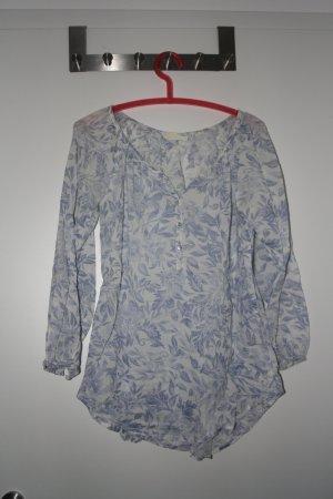 L.O.G.G. H&M Kimono Blouse azure-white cotton