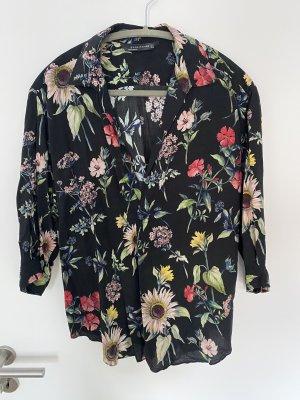 Bluse mit Blumenprint von Zara Gr. L