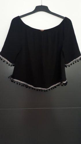 AIKI KEYLOOK Camicetta a maniche corte bianco-nero