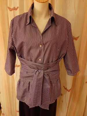 VON DANIELS Wraparound Blouse lilac cotton