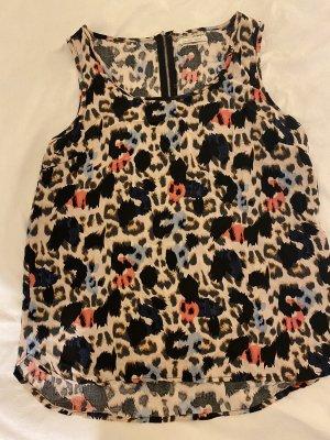 Bluse mit Buntem Leopardenmuster