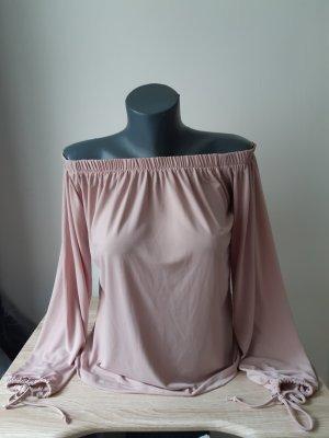 Bluse mit Carmenausschnitt