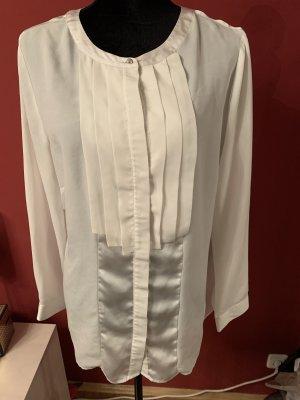 Zijden blouse licht beige