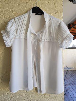 Shine Tie-neck Blouse white
