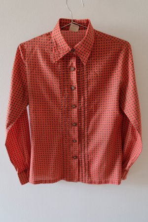 Wallmann Traditional Blouse forest green-brick red