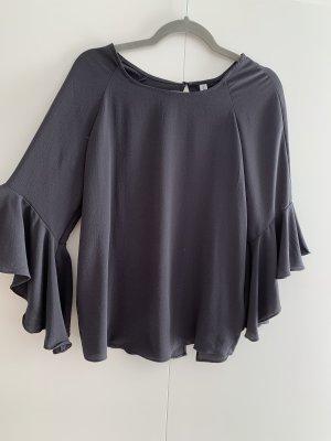 Ruffled Blouse dark grey