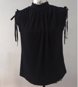 Anthropologie Blusa con collo alla coreana nero
