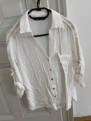 Zara Bluzka oversize biały