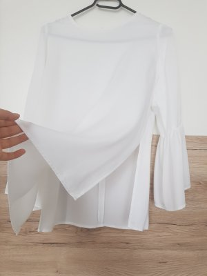 Zara Blusa in seta bianco