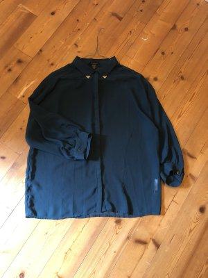 Amisu Transparante blouse petrol