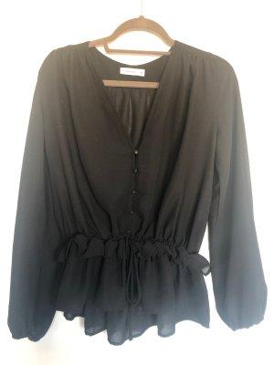 Daphnea Long Sleeve Blouse black