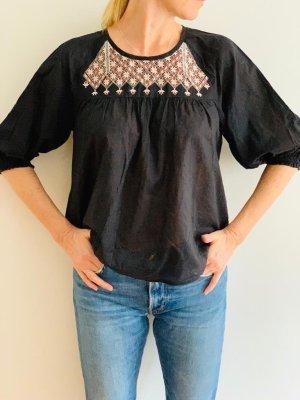 Madewell Short Sleeved Blouse black