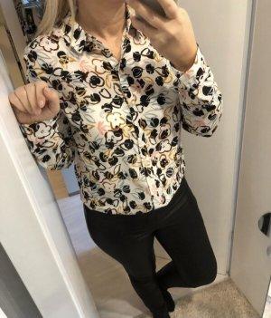 Bluse mit Herzen Gr. 38 M, Shirt, Top