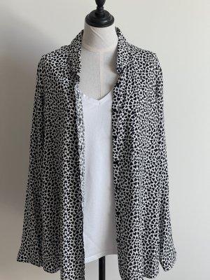 C&A Long Sleeve Blouse white-black