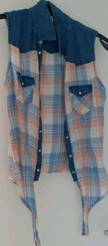 FB Sister Blouse en jean multicolore coton