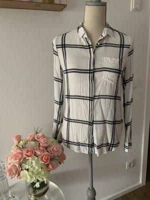 Bluse mit Karomuster 34 schwarz weiß