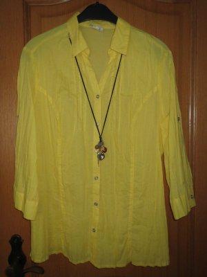 Bluse mit Kette, Gr.42/M, gelb