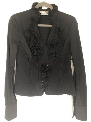 Nikowa Ruffled Blouse black cotton