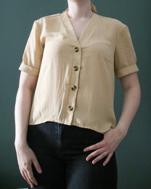 Pieces Short Sleeved Blouse beige