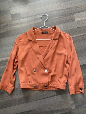 Bershka Koszulowa bluzka ciemny pomarańcz-rudy
