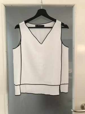 Bluse mit Kontrastnähten von Zara