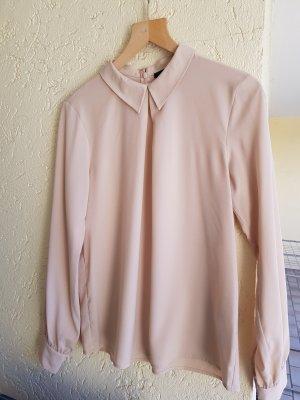 Bluse mit Kragen von hallhuber in Beige