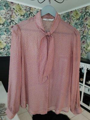 0039 Italy Camicetta a maniche lunghe color oro rosa-viola-grigio